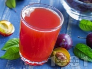 Рецепта Нектар / сок / сироп от сини сливи в бутилки (зимнина)